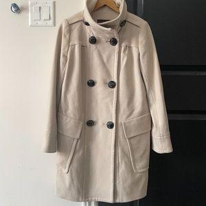zara beige wool coat